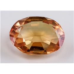 5.75 ct Golden Yellow Oval Cut Sapphire AGSL