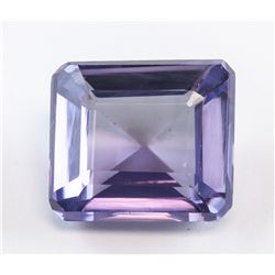 12.95 ct Purple-Green Emerald Cut Sapphire AGSL