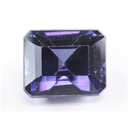 5.85 ct Blue Purple Emerald Cut Sapphire AGSL