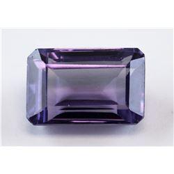 9.25 ct Purple Green Emerald Cut Sapphire AGSL