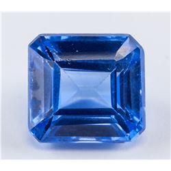 9.25 ct Blue Emerald Cut Sapphire Gemstone AGSL