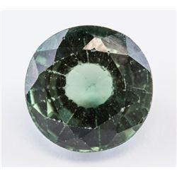 9.15 ct Green Round Cut Sapphire Gemstone AGSL