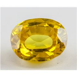 12.70 ct Yellow Oval Cut Natural Sapphire AGSL