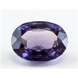 14 ct Purple Oval Cut Sapphire Gemstone AGSL