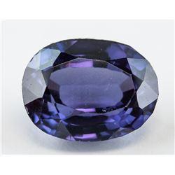 12.25 ct Purple Oval Cut Sapphire Gemstone AGSL