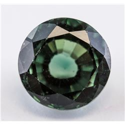 8.10 ct Green Round Cut Sapphire Gemstone AGSL