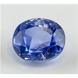 8.23 ct Purplish Blue Oval Cut Sapphire Gemstone