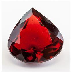 73.45 ct Red Pear Cut Topaz Gemstone GGL
