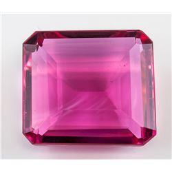96.80 ct Pink Emerald Cut Tourmaline Gemstone GGL