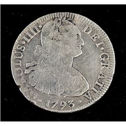 1793 Mexican 8 Reals Coin KM-109