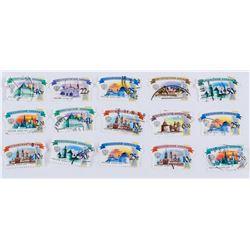 Fifteen (15) Assorted Russian Stamps 2009 & 2017