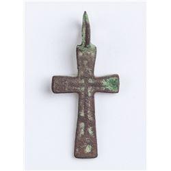 16-17th Century Russian Orthodox Bronze Cross