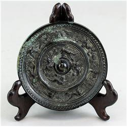 Chinese Han Style Bronze Beast Mirror