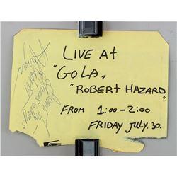 American Musician Robert Hazard Autograph
