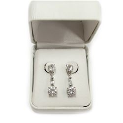 Ladies Dangling Sterling Silver Gemstone Earrings stamped 925 New with Box