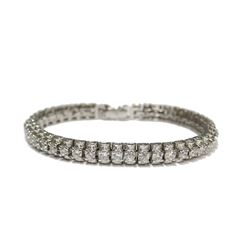 "New Fancy Dress Gala Bracelet .925 Sterling Silver adorned with gemstones 6.5"" wrist size"