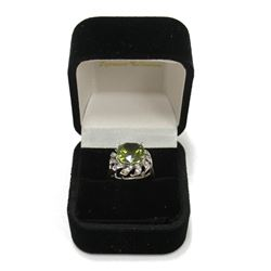 Gorgeous Vintage Style Peridot Sterling Silver Ring Size: 5  New with Box