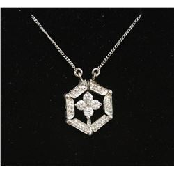 """Stunning .925 Sterling Silver Flower Changeable Lavalier Pendant & 18"""" chain Necklace New with Box"""