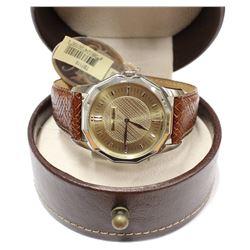 New Stylish Mens Tommy Bahama Wrist Watch Swiss Movement Leather Band Original Box & tag