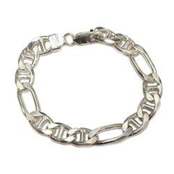 """Mens 925 Sterling Silver Italian Link 8"""" Bracelet Fine Jewelry"""