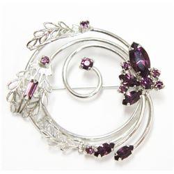 Fine Jewelry Amethyst Silver Winters Pendant Brooch Pin Sterling