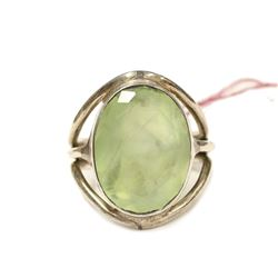 Artisan Hand Made Peridot Sterling Silver Ring Size 7 new with Tag