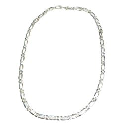 """Mens 925 Sterling Silver Italian Link 22"""" Chain Necklace Fine Jewelry"""