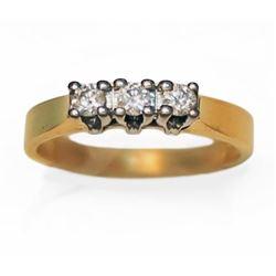 14k Ladies Gold 0.25 carat Diamond Ring Size 6.5 with Appraisal
