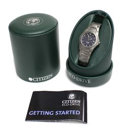 Citizen Eco-Drive Titanium Perpetual Day Date Calendar Watch Movement is Powered by Light