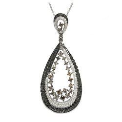 18 Karat White Gold 2.42 tcw ct Diamond Pendant Necklace $7875 Appraisal AIG