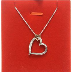 """Sterling Silver """"I am Loved"""" Heart Pendant Chain Necklace Reid Jewelry with Box"""