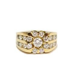 18K Yellow Gold 1.86 carat tcw VS1 Diamond Ring Size 7 Appraisal $8,100