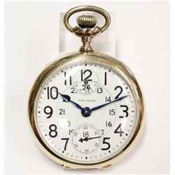 14K Solid Gold 1918 Waltham Vanguard Pocket Watch Model 1908