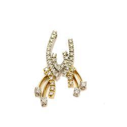 18K White & Yellow Gold 1.06 ct tcw SI Diamond Pendant Fine Jewelry