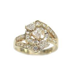 New Ladies Heart Shaped Diamond 14 Karat Yellow Gold VS2 1.03 Carat Ring
