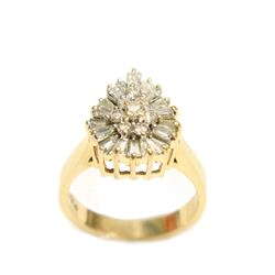 Beautiful Pear shaped Ladies Diamond 14k Gold 1.13 ct Ring Appraisal $3850
