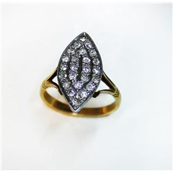 18K Vintage Ladies Gold VS .48ct Diamond Ring