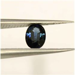 1.08 Carat Oval Cut Light Mid Blue Sapphire Gem stone