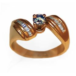 Modern 14k Gold .48 tcw Diamond Ring Appraisal $1850