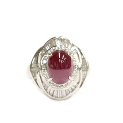 Luxury Platinum Ruby Diamond 5.37 ct Ring Appraisal $8200