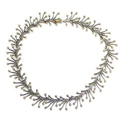 Mid Century TANE Twig Necklace 18K Sterling Silver Vermeil Necklace