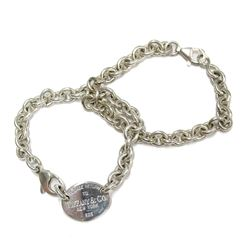Tiffany & Co. Please Return to Tiffany New York 925 Double Chain Link Bracelets