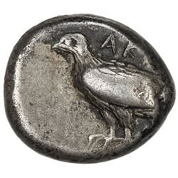 AKRAGAS: AR didrachm (8.83g), struck ca 495-480 BC, sea eagle standing left, VF