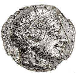 ATHENS: Anonymous, ca. 440-404 BC, AR tetradrachm (17.11g). NGC AU