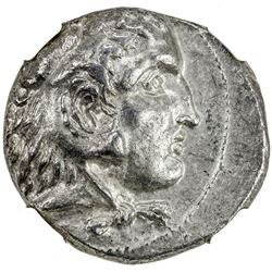 MACEDONIAN KINGDOM: Alexander III, the Great, 336-323 BC, AR tetradrachm. NGC EF