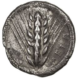 METAPONTUM: AR nomos (8.01g), SNG ANS-233; Noe-180, struck 510-470 BC, six-grained ear of barley, VF