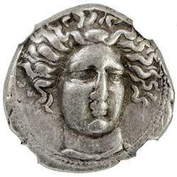 THESSALY: ca. 405-370 BC, AR drachm (6.03g), Larissa. NGC VF