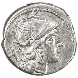ROMAN REPUBLIC: Cn. Domitius Ahenobarbus, AR denarius (4.06g), Rome. VF