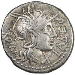 ROMAN REPUBLIC: Q. Fabius Labeo, 124 BC, AR denarius (3.83g), Rome. VF