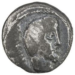 ROMAN REPUBLIC: L. Titurius L.f. Sabinus, 89 BC, AR denarius, Rome. VG
